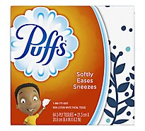 Puffs Facial Tissue Non-Lotion 2-Ply White Basic Box - 64 Count