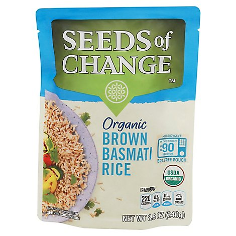 Seeds of Change Organic Rice Brown Basmati Pouch - 8.5 Oz