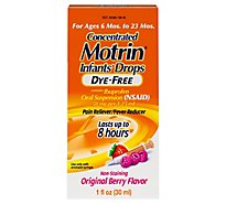 Motrin Infants Drops Concentrated Ibuprofen Suspension Original Berry Flavor Dye Free - 1 Fl. Oz.