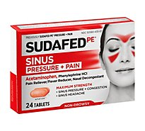 Sudafed PE Pressure + Pain Caplets for Adults Maximum Strength - 24 Count