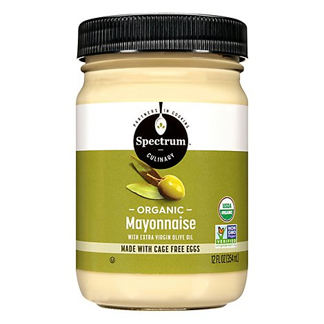 Spectrum Mayonnaise Organic with Olive Oil Extra Virgin - 12 Fl. Oz.
