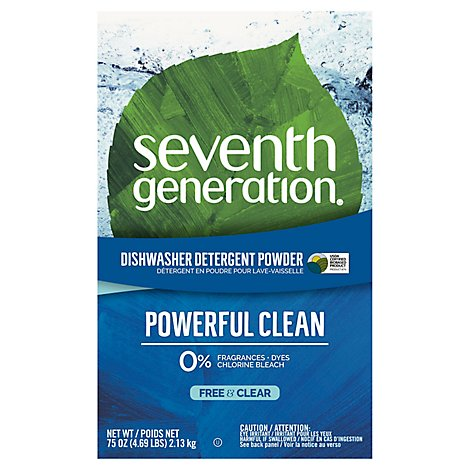 Seventh Generation Dishwasher Detergent Natural Free & Clear Box - 75 Oz