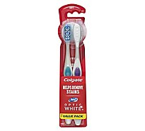 Colgate 360 Optic White Toothbrush Soft Full Head Value Pack - 2 Count