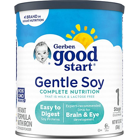 Gerber Good Start Infant Formula Soy Non GMO Powder Stage 1 - 12.9 Oz