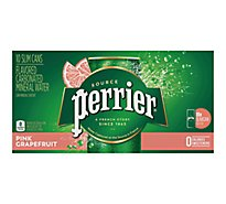 Perrier Pink Grapefruit Flavored Carbonated Mineral Water Slim Cans - 10-8.45 Fl. Oz.