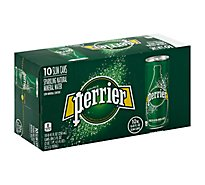 Perrier Carbonated Mineral Water Slim Cans - 10-8.45 Fl. Oz.