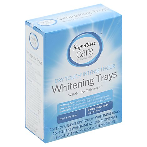 Signature Care Whitening Trays Dry Touch Intense 1 Hour Gel Free Pack Fresh Mint - Each