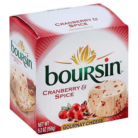 Boursin Cranberry & Spice Gournay Cheese - 5.2 Oz.