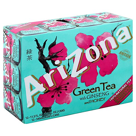 AriZona Green Tea with Ginseng and Honey - 12-11.5 Fl. Oz.