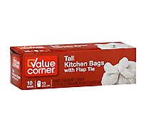Value Corner Kitchen Bags Drawstring Tall 13 Gallon - 10 Count