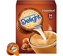 International Delight Coffee Creamer Hazelnut Singles - 24 Count