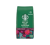 Starbucks Coffee Ground Dark Roast Caffe Verona Decaf Bag - 12 Oz
