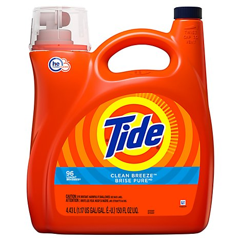 Tide Liquid Detergent HE Clean Breeze Jug - 150 Fl. Oz.
