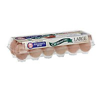 Egglands Best Eggs Organic Large Grade A Brown - 12 Count