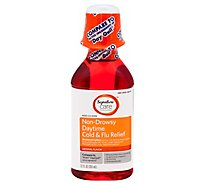 Signature Care Cold & Flu Relief Daytime Non Drowsy Acetaminophen Original - 12 Fl. Oz.