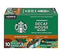 Starbucks Coffee K-Cup Pods Medium Roast House Blend Decaf - 10-0.42 Oz