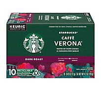 Starbucks Coffee K-Cup Pods Dark Roast Caffe Verona - 10-0.42 Oz