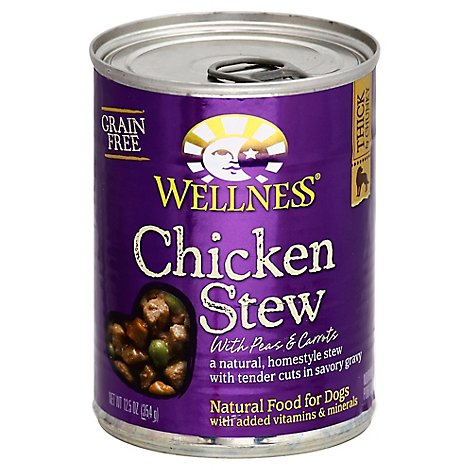 Wellness Dog Food Natural Grain Free Chicken Stew With Peas & Carrots Can - 12.5 Oz
