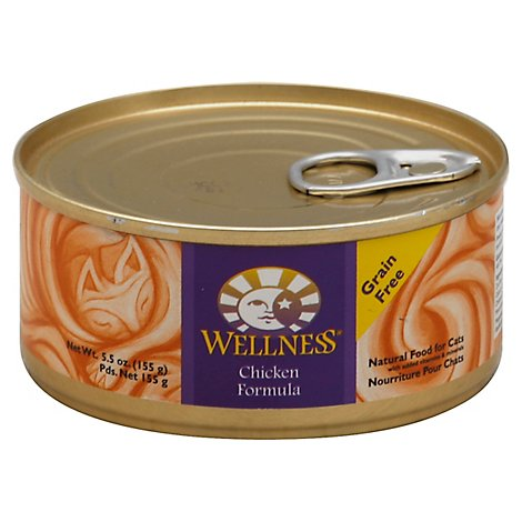 Wellness Complete Health Cat Food Grain Free Pate Chicken Entree Can - 5.5 Oz