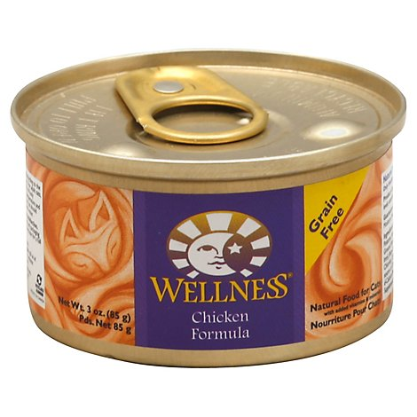Wellness Complete Health Cat Food Grain Free Pate Chicken Entree Can - 3 Oz