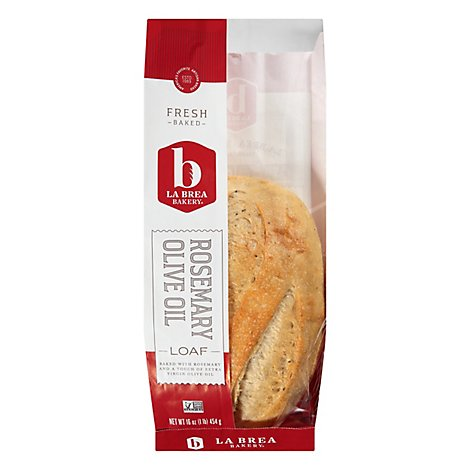 La Brea Bakery Bread Loaf Rosemary Olive Oil - 16 Oz