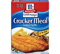 McCormick Golden Dipt Fry Mix Seafood Cracker Meal - 10 Oz
