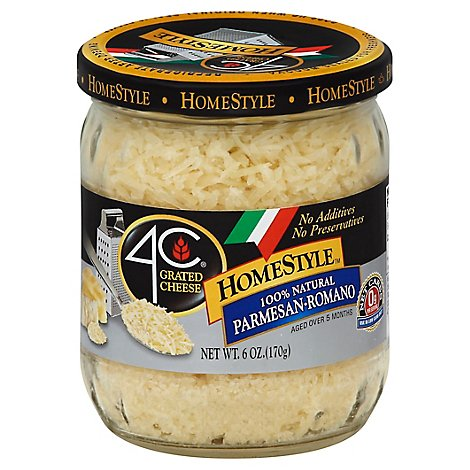 4C Grated Cheese Homestyle Parmesan Romano - 6 Oz