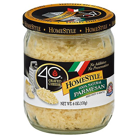 4C Grated Cheese Homestyle 100% Natural Parmesan - 6 Oz