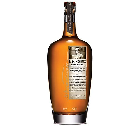 Mastersons Rye Whiskey 10 Year - 750 Ml