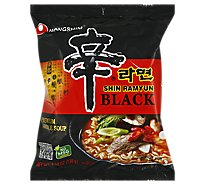 Nongshim Shin Ramyun Black Noodles With Soup Mix - 4.58 Oz