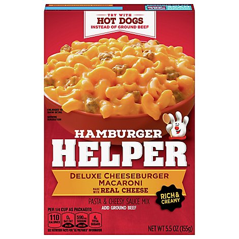 Betty Crocker Hamburger Helper Cheeseburger Macaroni Deluxe Box - 5.5 Oz
