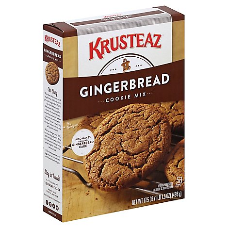 Krusteaz Cookie Mix Bakery Style Gingerbread - 17.5 Oz