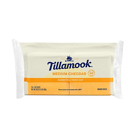 Tillamook Cheese Cheddar Medium Cheddar Sliced - 0.50 LB