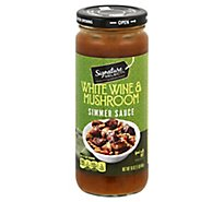 Signature SELECT Simmer Sauce Mushroom Jar - 16 Oz