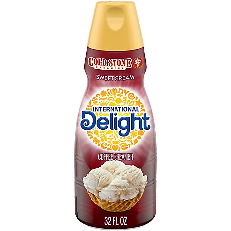 INTERNATIONAL Delight Coffee Creamer Gourmet Cold Stone Sweet Cream - 32 Fl. Oz.