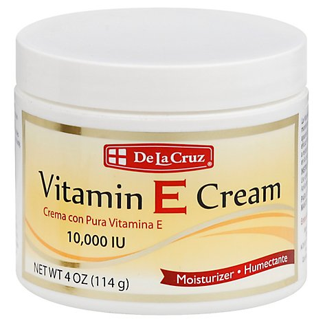 De La Cruz Vitamin E Cream - 4 Oz
