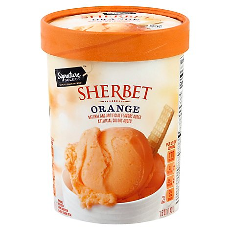 Signature SELECT Sherbet Mandarin Orange Low Fat - 1.5 Quart