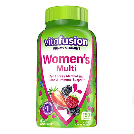 Vitafusion Dietary Supplement Gummy Complete Multivitamin Womens Natural Berry - 150 Count
