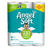 Angel Soft Bathroom Tissue Double Rolls 2 Ply Unscented - 12 Roll