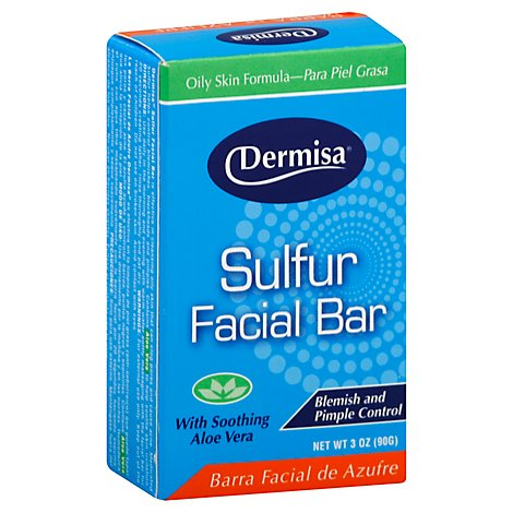 Dermisa Sulfur Facial Bar - 3 Oz
