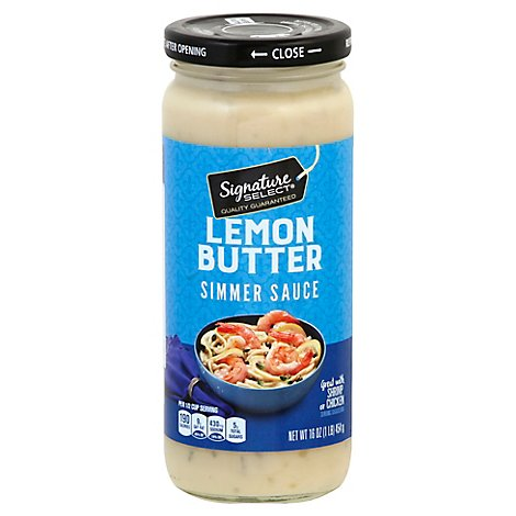 Signature SELECT Simmer Sauce Lemon Butter Jar - 16 Oz