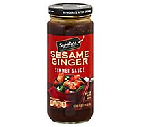 Signature SELECT Simmer Sauce Sesame Ginger Jar - 18 Oz