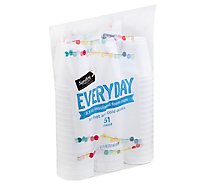 Signature SELECT Cups Everyday Insulated Cups Foam 8.5 Ounces For Hot And Cold - 51 Count