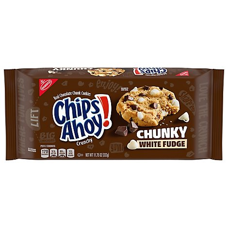 Chips Ahoy! Chunky Cookies Chocolate Chunk White Fudge - 11.75 Oz