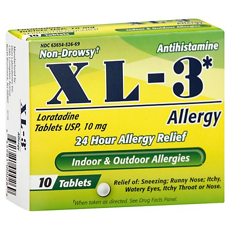 Xl-3 Allergy In A Box - 10 Count