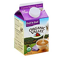 Organic Valley Half & Half Organic Ultra Pasteurized Pint - 16 Fl. Oz.