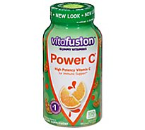 Vitafusion Dietary Supplement Gummy Power C Vitamins for Adults Absolutely Orange - 150 Count