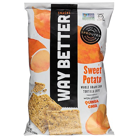 Way Better Snacks Tortilla Chips Sweet Potato - 5.5 Oz