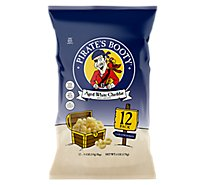 Pirates Booty Rice & Corn Puffs Baked Aged White Cheddar - 12-0.5 Oz