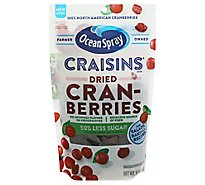 Ocean Spray Craisins Cranberries Dried Reduced Sugar 50% Less Resealable - 5 Oz